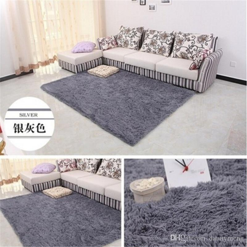 New Products 100*200 Cm Fashion Large Size Long Plush Shaggy Soft Carpet Area Rugs Slip Resistant Floor Mats For Living Room Bedroom Home Su