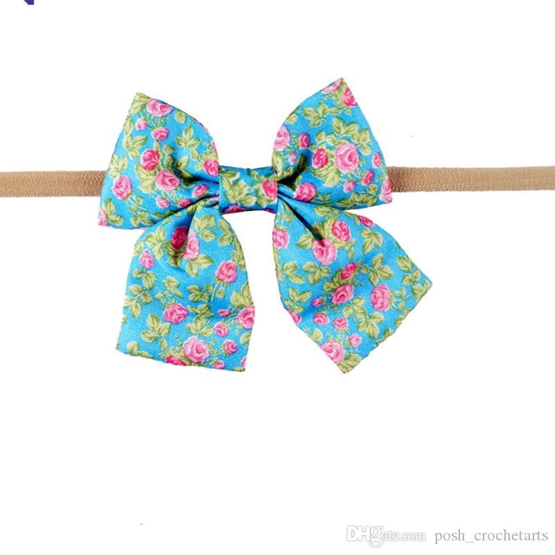 Baby Headbands Trendy Handmade Fabric Hair Bows for Girls Birthday Gift Kit Floral Patterns Headwraps Fashion Photography Props