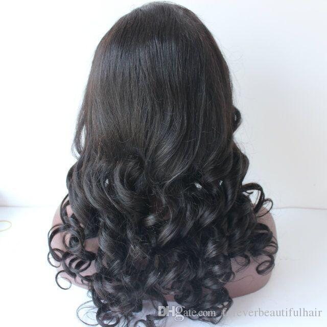 Erschwingliche natürliche schauende 20 Zoll-Körper-Wellen-brasilianische Jungfrau-Menschenhaar-Spitze-Front-Perücke mit dem Baby-Haar für schwarzen Frauen hohen Pferdeschwanz