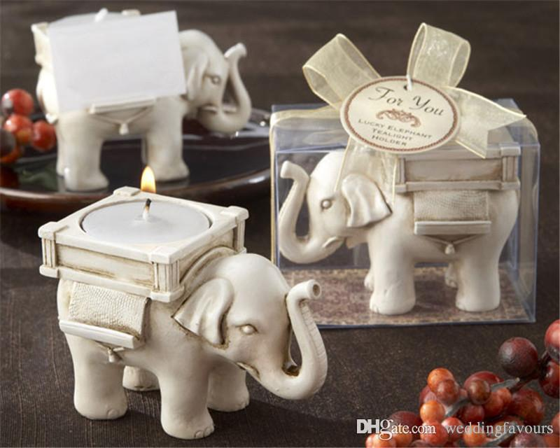 Good Luck Elephant Tealight Holder Candle Holder Wedding Favors With