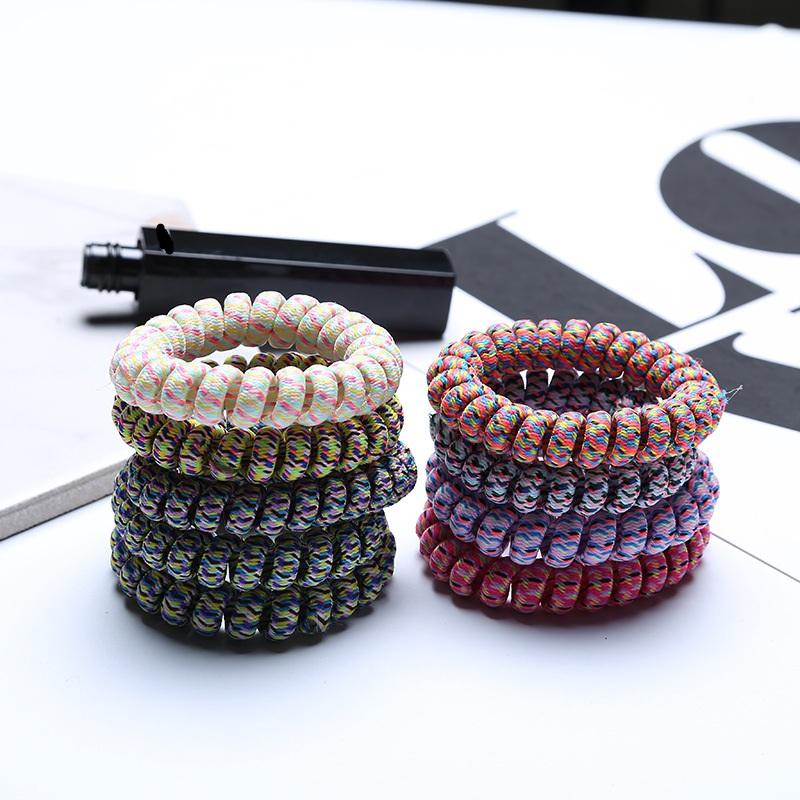 hairband hair bands rope elastic telephone wire spring design for Women girl Hair Accessories headwear holder rubber gum fabric leopard