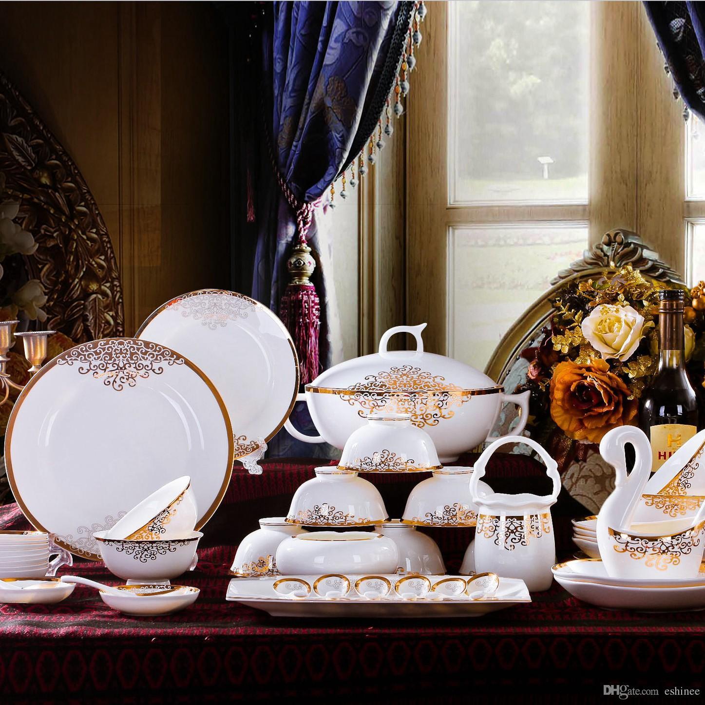 New Year Hot Sale Fine Bone China Dinnerware Sets Gifts Porcelain Aegean Sea Tuscan Dinnerware Sets Unique Dinnerware Sets From Eshinee $125.63| Dhgate.Com & New Year Hot Sale Fine Bone China Dinnerware Sets Gifts Porcelain ...
