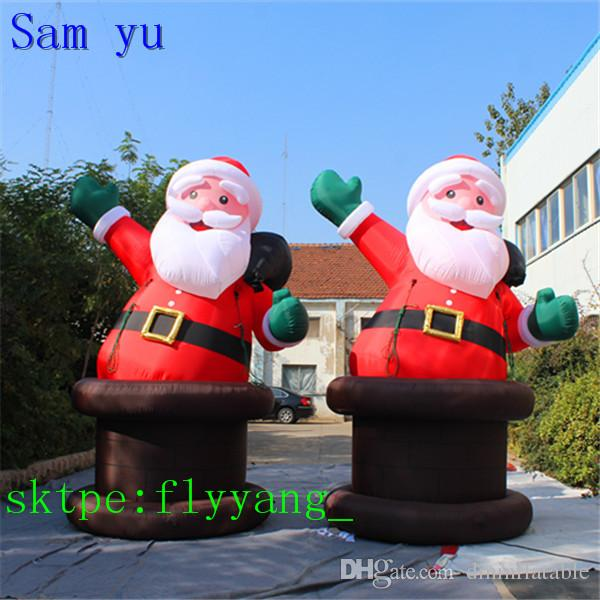 High quality Outdoor Inflatable Santa Claus, inflatable Father Christmas, inflatable santa with gift bag for Christmas decorations