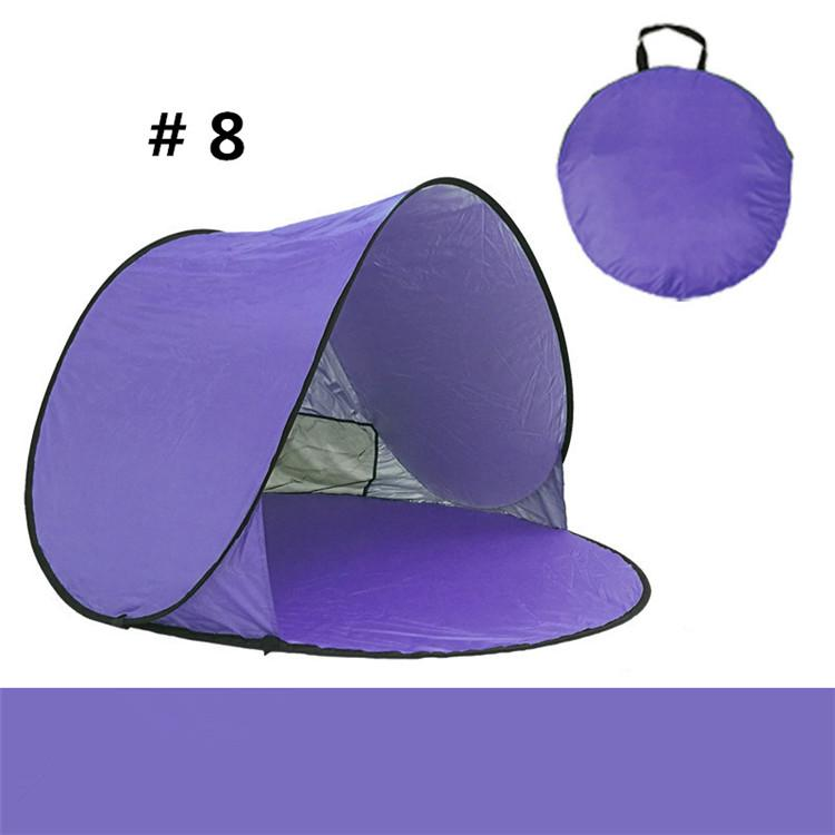 DHK/Fedex Quick Automatic Opening Hiking Tents Outdoors Camping Shelters 50+ UV Protection Tent Beach Travel Lawn Home Multicolor