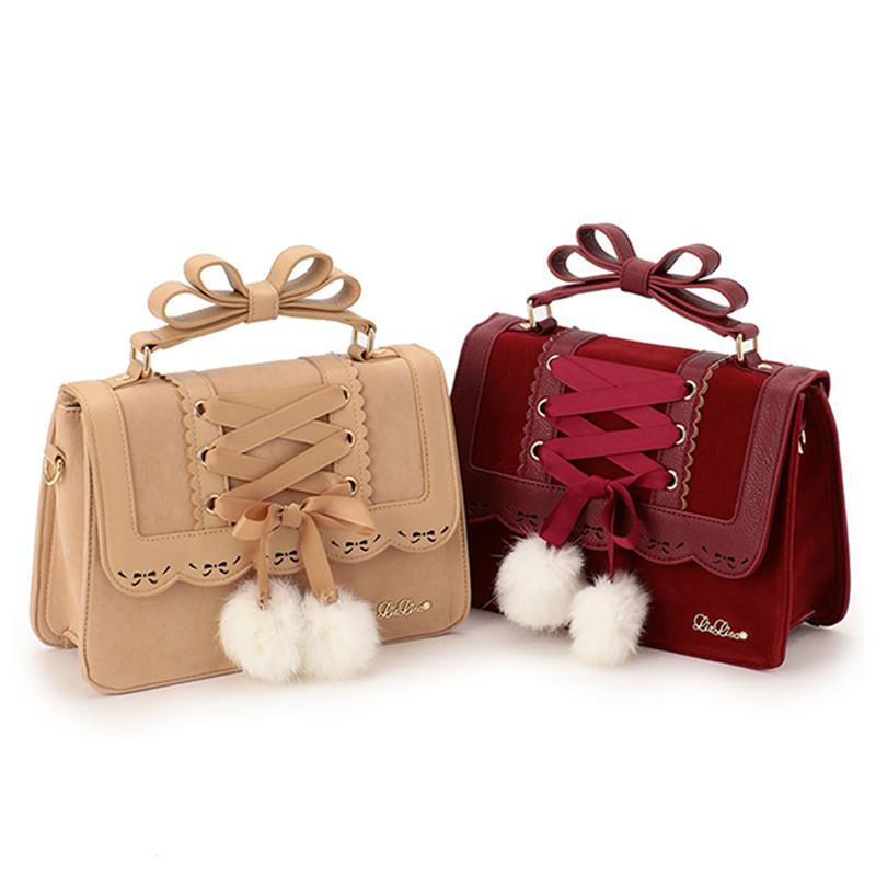 5cb08265c4 Wholesale ARTMOMO 2017 New Fashion Liz Lisa Cute Bow Shoulder Bags Women  Sweet Red Handbag Famous Brand Designer Girl Leather Shoulder Bag Clutch  Bags Beach ...