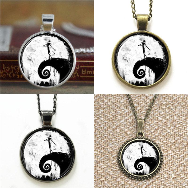 10pcs Nightmare Before Christmas Glass Photo Necklace keyring bookmark cufflink earring bracelet