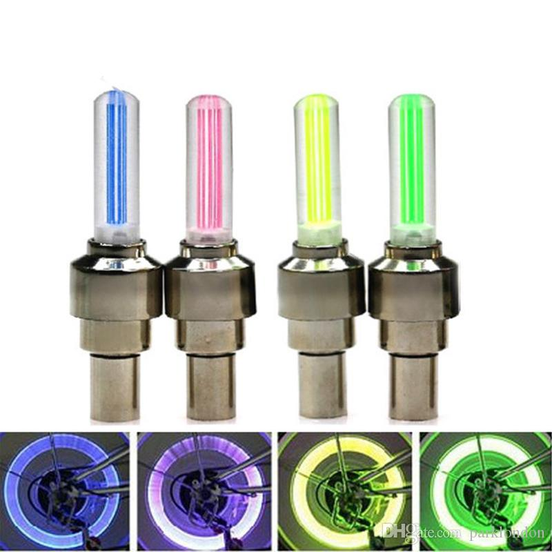 Firefly Spoke LED Wheel Valve Stem Cap Tire Motion Neon Light Lamp For Bike Bicycle Car Motorcycle