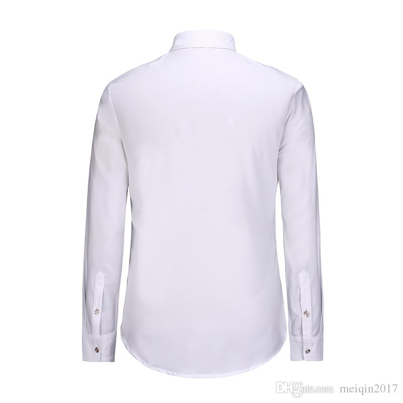 Vintage Galaxy Star Printed 3D Shirts for Men Chemise Hot Sale Long Sleeve White Base Male Shirts Fashion Formal Clothes BL-003