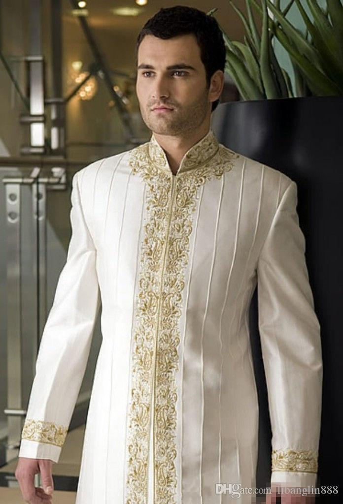 2017 Men New Fashion Designer Wedding Groom Indowestern Sherwani ...