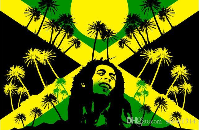 2018 Jamaica Rasta Bob Marley Wallpaper Flag Banner 150cm90cm 35ft Polyester Custom Sports From Snow1314 1106
