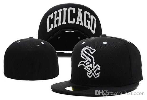 Retro White Sox Baseball Cap Gorras Front Team Sox Logo Sox Fitted Hats Gorras Wicks Away Sweat Adult Sport Men Women Chapeau Caps