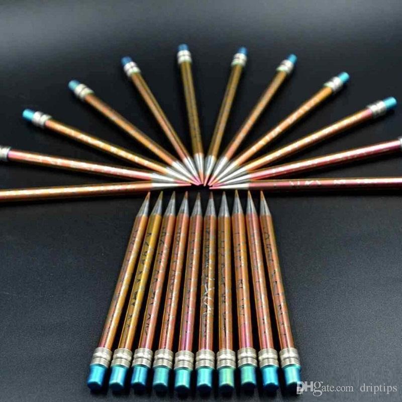 110 millimetri di lunghezza GR2 titanio anodico matita colorata strumento di durezza di cera tubo di vetro Bong acqua di tabacco