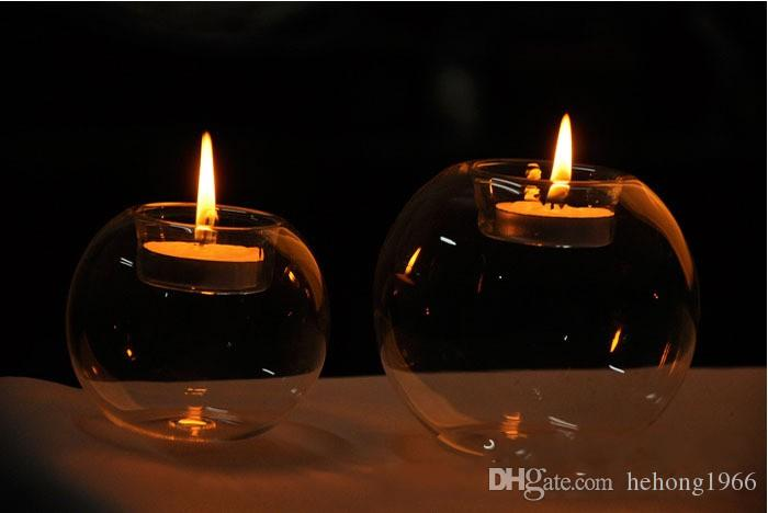 Handmade Transparent Spherical Glass Candlestick Creative Romantic Decorative Crafts Fashion Tabletop Candle Holders The Most Cheap 3yr2 R