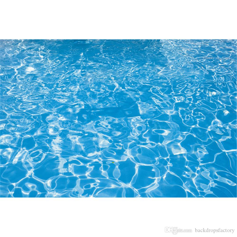2018 blue water swimming pool photography backdrops baby newborn
