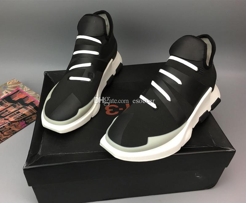 online store 4a933 d7291 Y-3 NOCI 0003 BY2102 Black White Mens Running Shoes,2017 New Men's Y3 High  Top Sneakers Boots Shoes Quality fine With Box