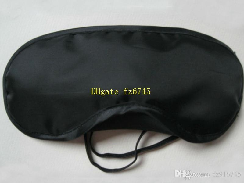 10 قطعة / الوحدة شحن مجاني بالجملة سفر eyemask العين قناع الظل غطاء الغمامة النوم السفر اللون الأسود