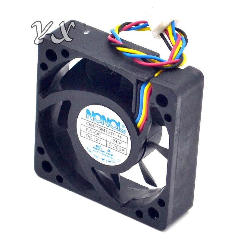 5cm4 line temperature control 0.2A 12V car audio cooling fan G5015M12D1+6