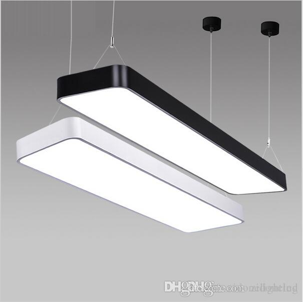 office light fixture. Super Bright Lx220 Study Office Modern Led Ceiling Pendant Lamp Rectangle Suspended Light Fixtures Home White Silver Designer Fixture D