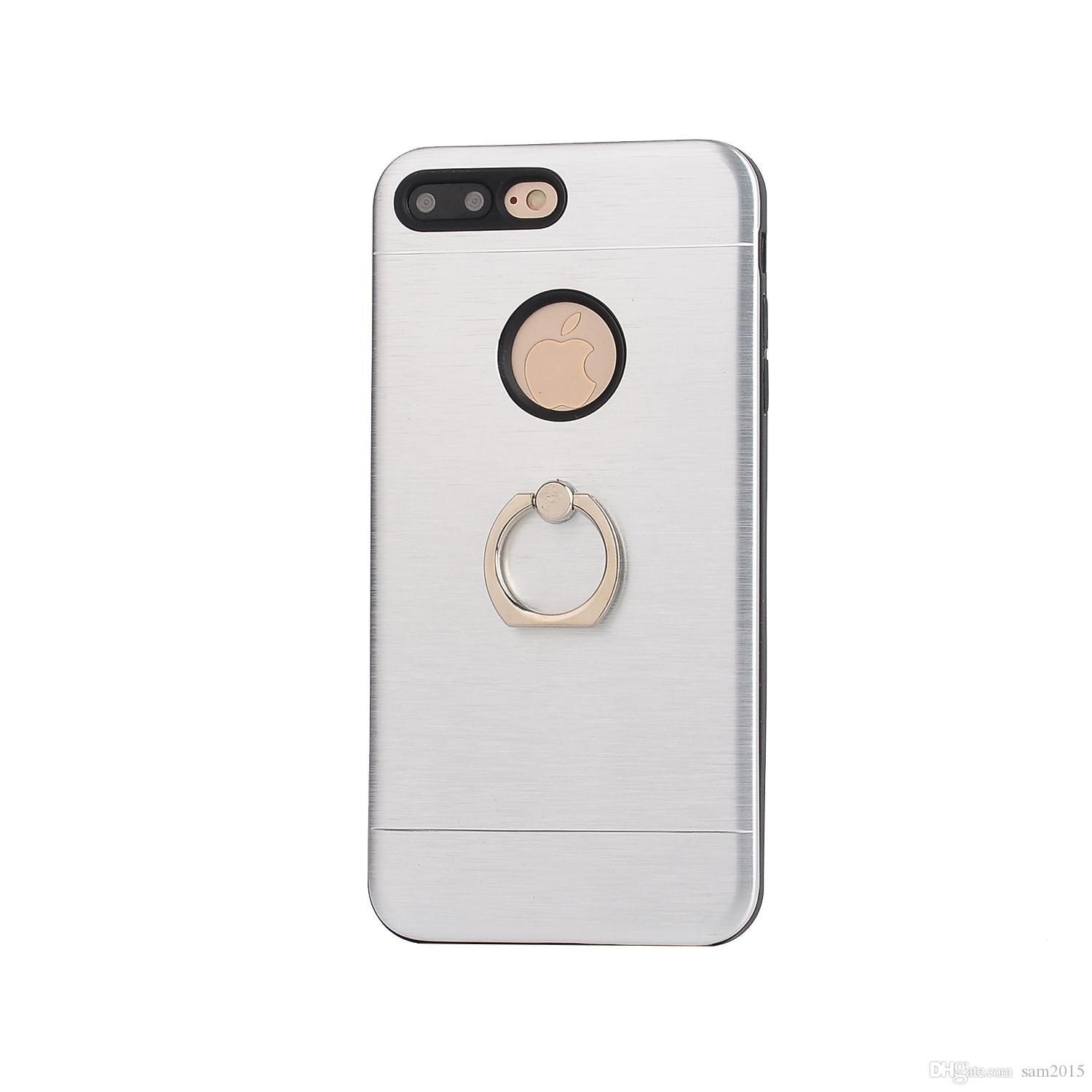 Phone Cases Luxury Aluminum Metal Ring+tpu Holder Stand Back Cover Case Customized Hot Sale Products for iphone 5 6 7 plus samsung s6 s7edg