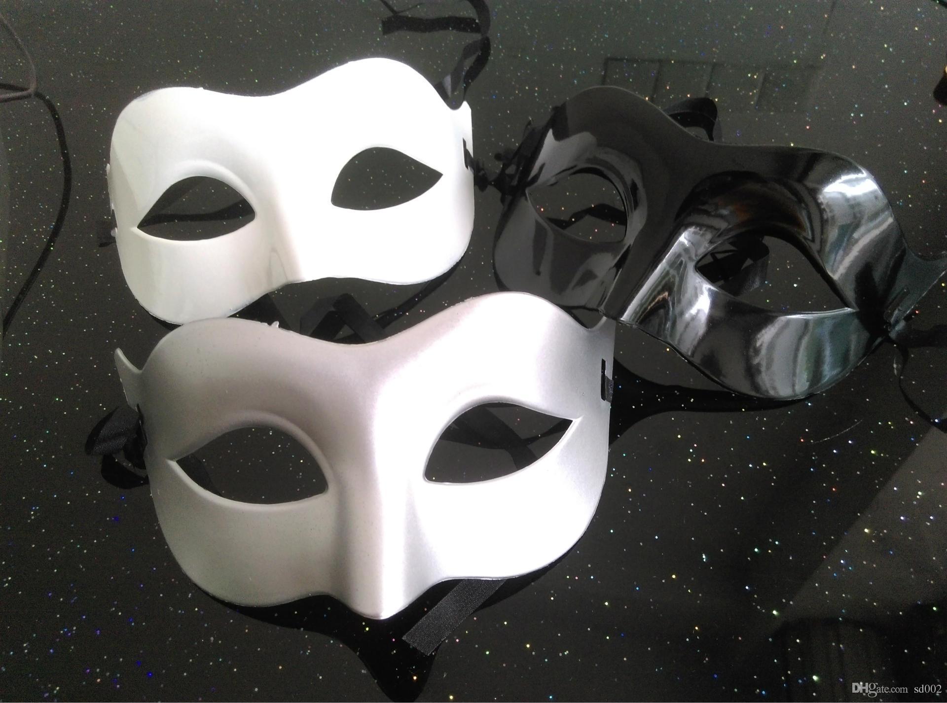Man Half Face Mask Many Colors Halloween Unisex Party Venetian Masquerade Decorations Mardi Gras Masks Hot Sell 0 9rh J Masks Costume Masks Costumes From ... & Man Half Face Mask Many Colors Halloween Unisex Party Venetian ...