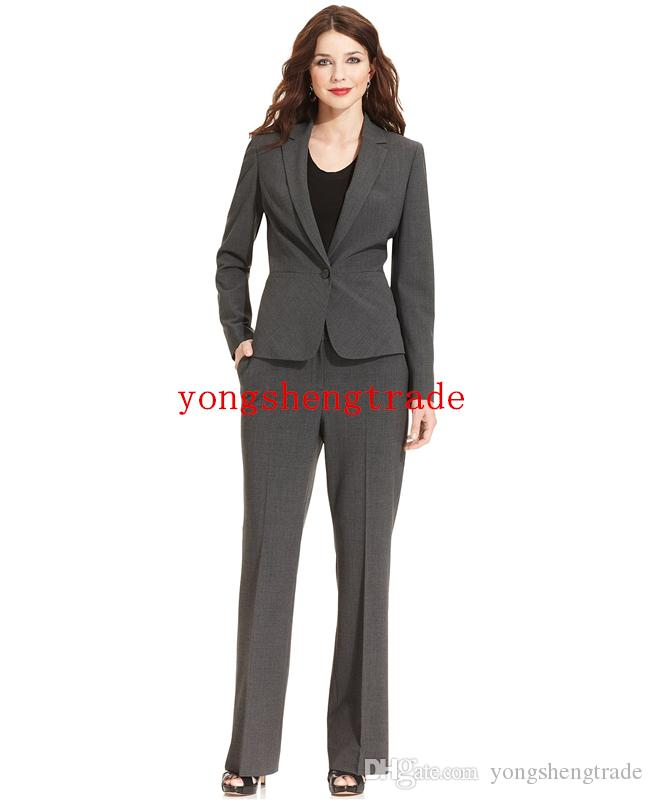 Hot Quality Fabric Business Suit For Women Custom Made Gray Women Skirt Suits Perfect For Any Occasion