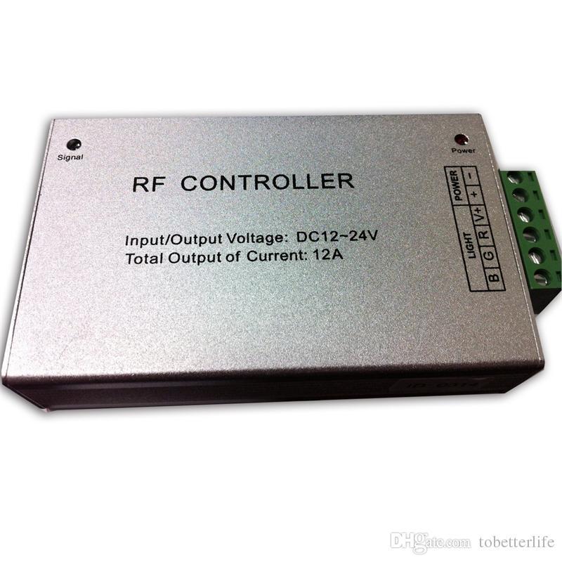 DC12V-24V 12A RF Sem Fio levou Remoto Controlador 20 Chave rgb led controlador Para SMD 5050 3528 LED Tira luzes módulos