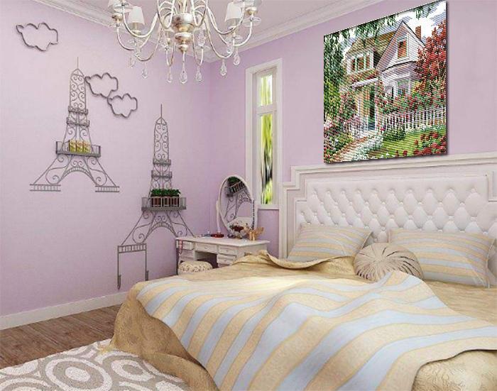 Europa casa giardino villa, fai da te fatti a mano punto croce set di cucito kit di ricamo dipinti contati stampati su tela DMC 14CT / 11CT