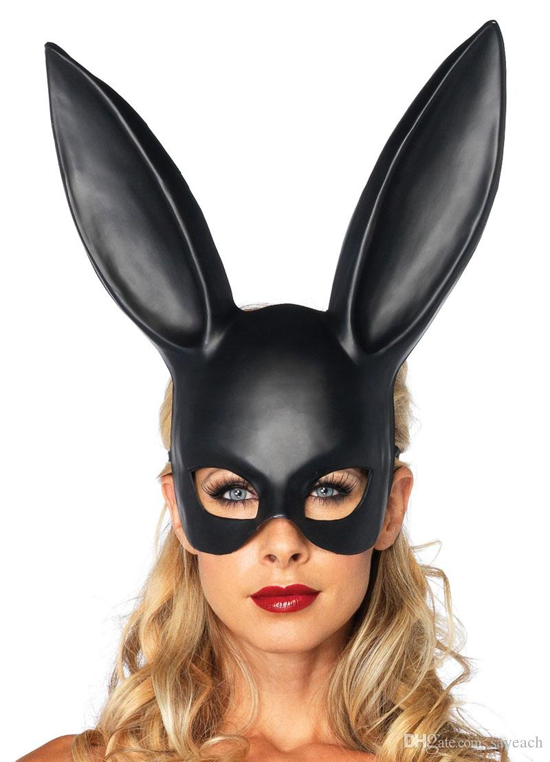 Women Girl Party Rabbit Ears Mask Masquerade Mask Bunny Mask For Birthday Party Easter Halloween Costume Accessory Black White Costume Mask Costume Masks ...  sc 1 st  DHgate.com & Women Girl Party Rabbit Ears Mask Masquerade Mask Bunny Mask For ...