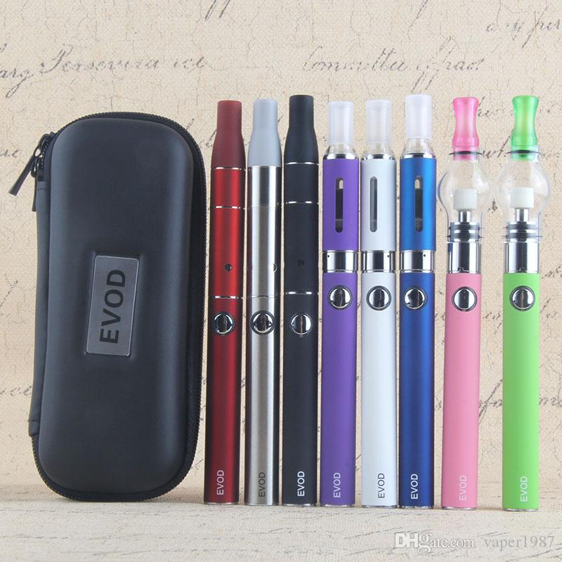 Ago G5 3 in 1 Triple Use Vaporizer Pen Kit include EVOD Rechargeable Battery MT3 Clearomizer AGO Herb Atomizer and Glass Globe