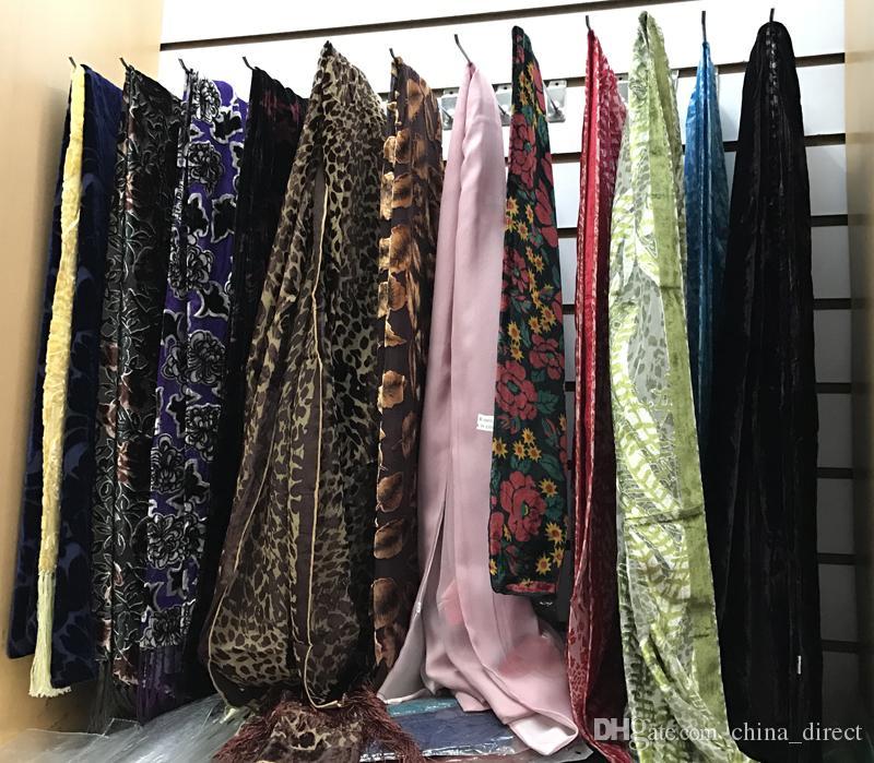 2017 new Burnout silk velvet Scarf Shawl Wrap SCARF NEW ARRIVAL #1385