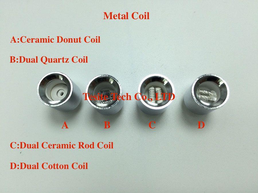 Wax Metal Coil ceramic donut coil dual quartz ceramic cotton coil replacment Core for vase cannon bowling atomizer glass globe atomizer
