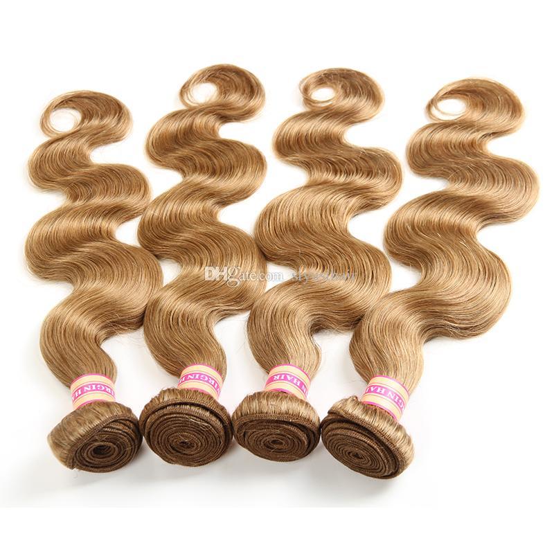 Color puro # 2 # 4 # 27 # 30 # 99J paquetes de pelo vírgenes peruanos peruanos paquetes rubios de cuerpo de onda de cuerpo tejidos de pelo humano tejido