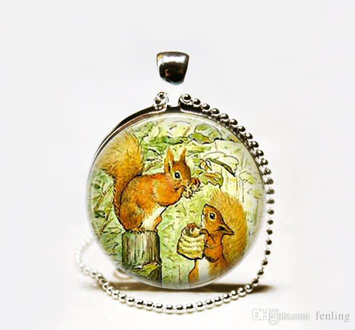 Wholesale wholesale tale of squirrel nutkin pendant necklace wholesale wholesale tale of squirrel nutkin pendant necklacesquirrel pendant necklacebeatrix potter pendant necklace heart shaped pendant necklace gold aloadofball Image collections