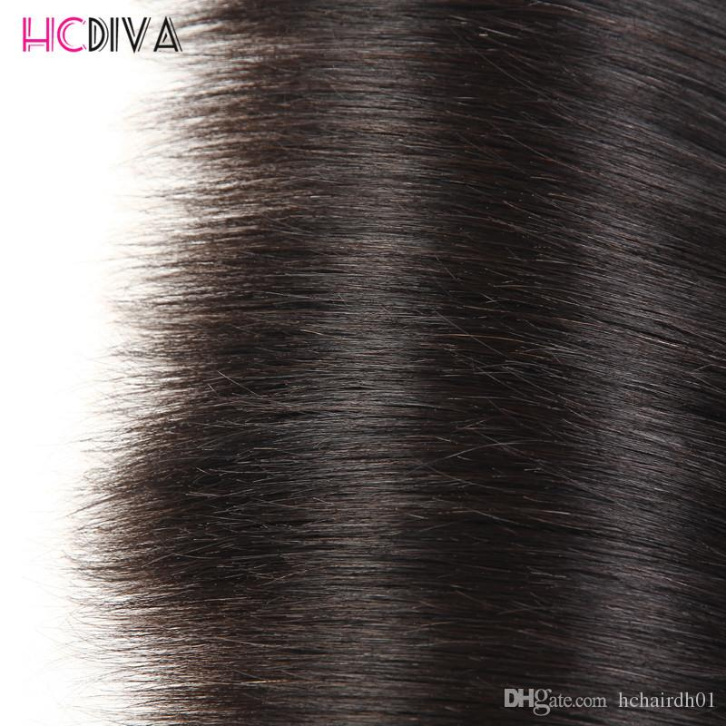 Brazilian Virgn Human Hair Bundles with Closure Pre Plucked 360 Lace Frontal with Baby Hair Straight & Body Wave Brazilian Virgin Hair Wefts