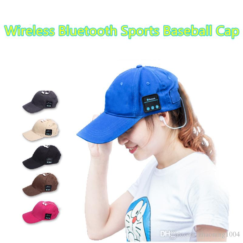 8fa1f704142 Unisex Wireless Sport Bluetooth Music Cap Speaker Earphones Baseball Hat  Canvas Smart Sun Cap Music Headphone Speaker With Mic For Phone Customized  Hats ...