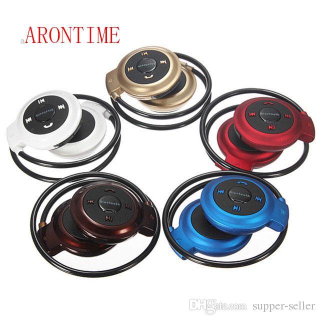 Mini Mini503 Bluetooth 4.0 Headset Mini 503 Sport Wireless Headphones Music Stereo Earphones+Micro SD Card Slot Free DHL