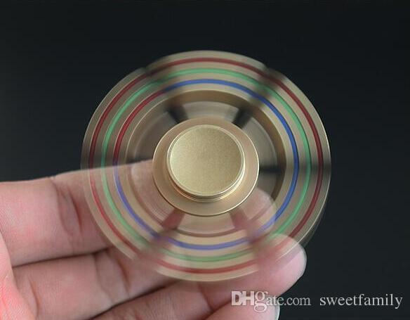 EDC hand spinner arco-íris hand spinner 6 spins fidget spinner bauhinia flor foco brinquedos brinquedo de descompressão