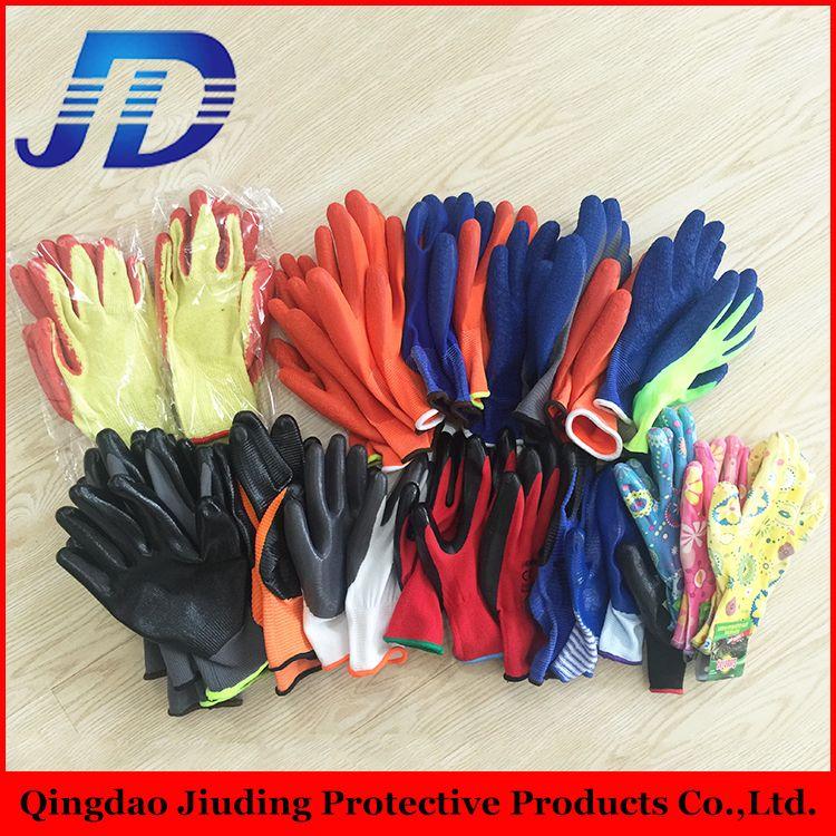 2015 лучшие продажи трикотажные манжеты нейлон лайнер сад латекс покрытием рабочие перчатки с Китай перчатки пзготовителей