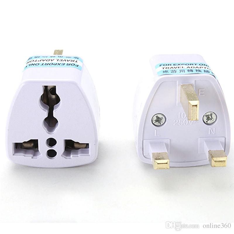 Универсальный адаптер для путешествий ЕС США AU в Великобританию AC Travel Power Plug зарядное устройство адаптер конвертер 250 в 10A разъем конвертер Белый