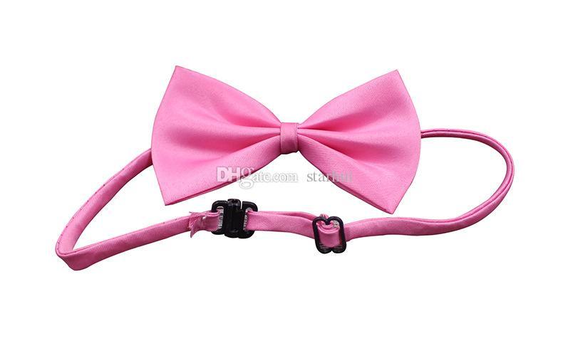 Ayarlanabilir Pet Köpek Bow Tie Boyun Aksesuar Kolye Yaka Köpek Parlak Renk Pet Bow Mix Renk WX-G15