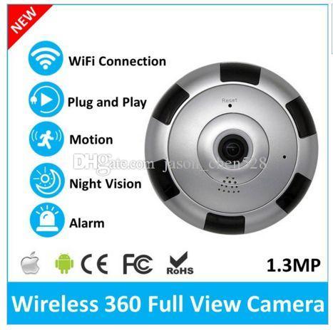Newest v380 Mini VR IP Wi-Fi Camera HD 960P 360 Degree Panoramic Network  CCTV Security Camera IR Night Vision
