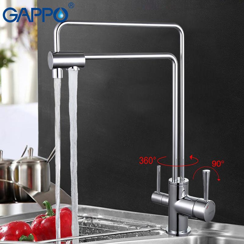 GAPPO Water Mixer Tap Kitchen Sink Faucet Torneira Brass Kitchen ...