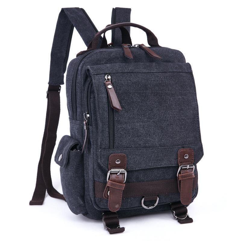 b0c4df5b1b86 ... 6 sur 12 BNWT ZUO LUN DUO Mens Canvas Multifunction Hybrid Backpack  Laptop Bag huge selection  Wholesale Vintage Canvas Women Backpack Men  School Bag ...