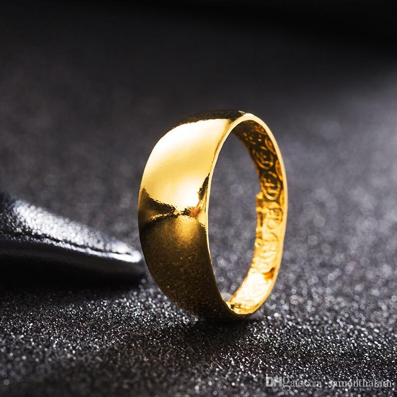 Gold Plated New Ethiopian Wedding Alliance Africa Arab Rings Gold