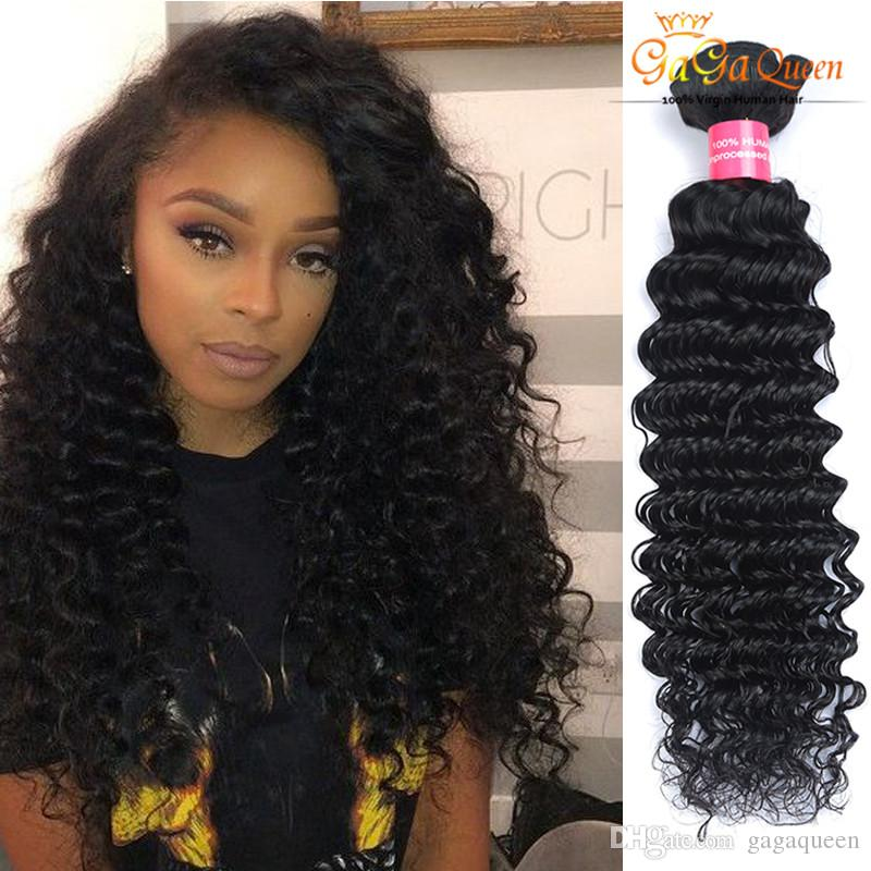 Whosale Mixed Lengths Brazilian Remy Hair Weaves Deep Wave Curly
