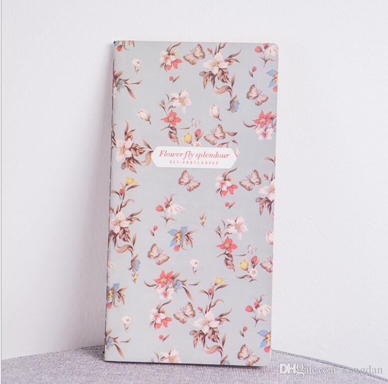Vintage fresco Estilo Flor Floral Kraft Paper Mini Notebook bolsos Notepad Diário Memo Papelaria Escola Escritório presentes do bebê