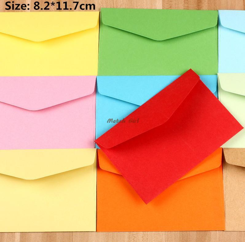 Wholesale 82117cm colorful mini kraft envelope business vip card wholesale 82117cm colorful mini kraft envelope business vip card small wedding party invitation card paper envelopes homemade cards kids birthday cards reheart Gallery