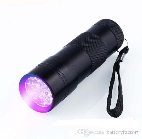 395-400NM Ultra Violet UV Mini lampe de poche Portable 12 LED UV Scorpion Détecteur Finder Blacklight Rouge