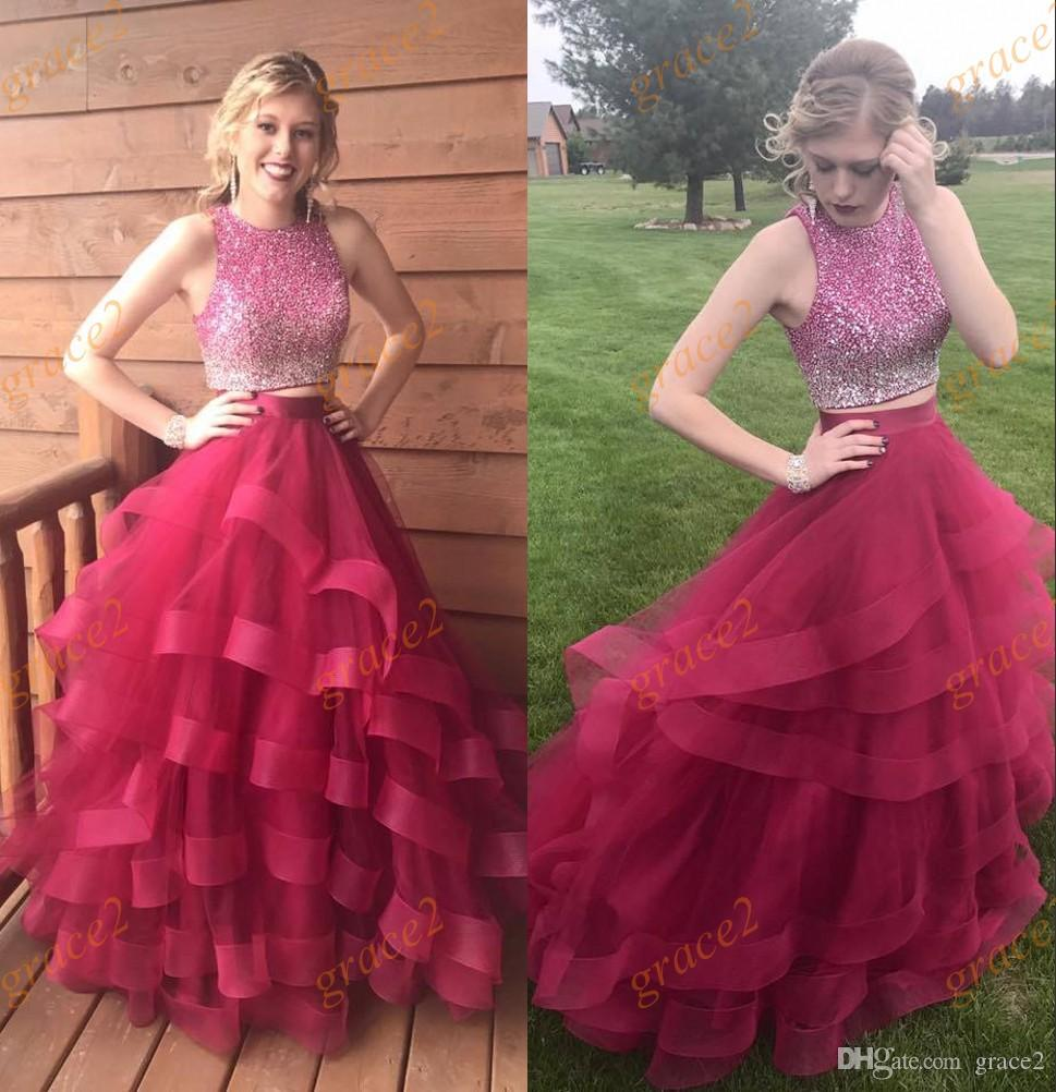 65d8354cee3 Ruby Quinceanera Dresses 2017 With Ruffles Skirt And Ombre Bodice Real  Photos Sweet 15 Dress Sweep Train Quinceanera Dresses And Dolls Abc  Quinceanera ...
