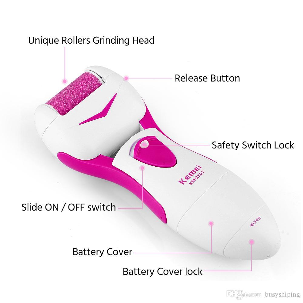 Piedi, cura! Dispositivo di rimozione del piede del dispositivo di rimozione della pelle morta dei dispositivi di rimozione impermeabile del calibro elettrico Nuovo strumento di cura del piede